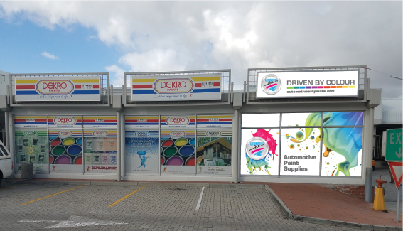 Finalised concept of the Automotive Art store front in Cape Town, South Africa.